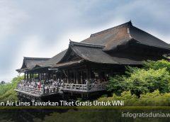 Japan Air Lines Tawarkan TIket Gratis Untuk WNI