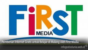 Pemberian Internet Gratis untuk Belajar di Malang oleh First Media